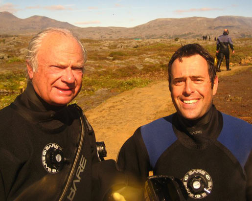 DIVE.IS guide, David with the King of Sweden © Tobias Klose DIVE.IS